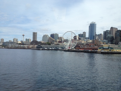 Seattle from the Bainbride Ferry